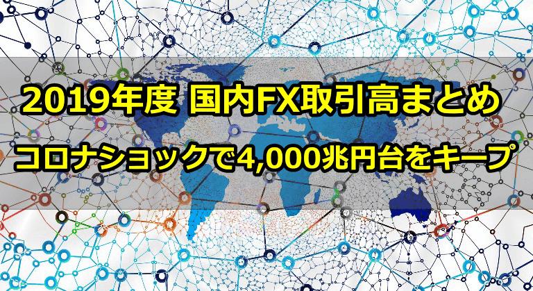 2019年度のFX取引高が4000兆円台を持ち直した!